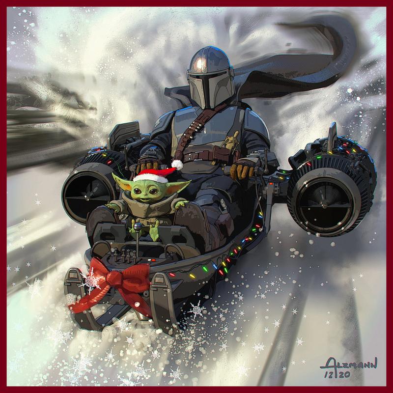 Mandalorian Christmas Artwork