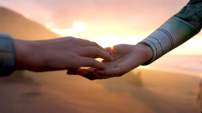 Eternals, hands touching