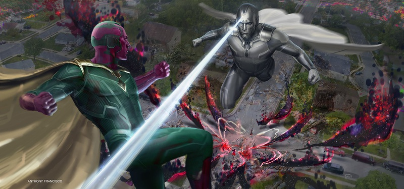 WandaVision Vision battle Concept Art