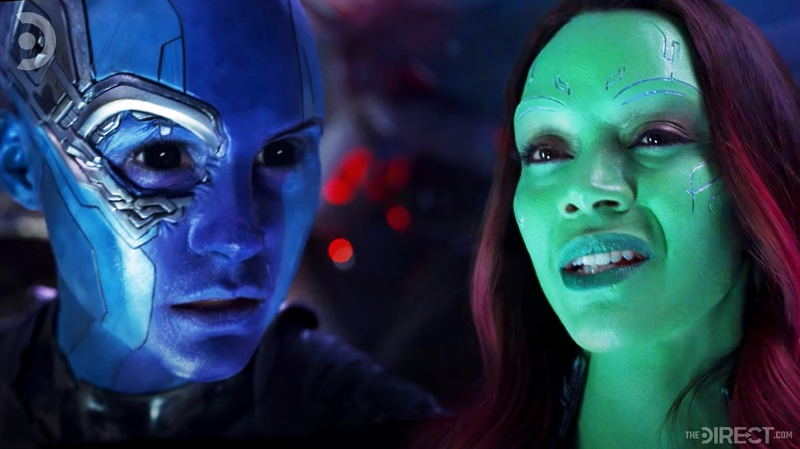 Nebula and Gamora in Guardians of the Galaxy Vol.2
