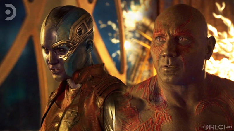 Nebula and Drax in Guardians of the Galaxy Vol. 2