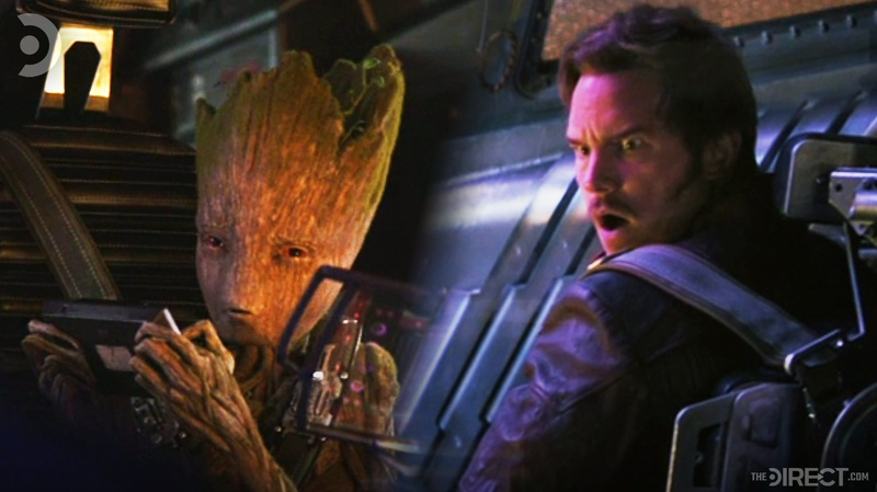 Groot and Star-Lord in Avengers: Infinity War