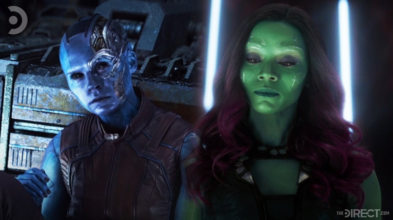 Nebula and Gamora in Avengers: Endgame