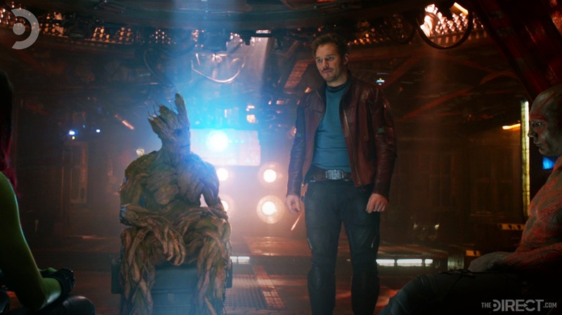 Guardians talking in Guardians of the Galaxy