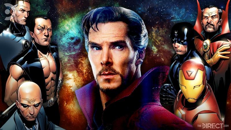 Doctor Strange with Illuminati Team
