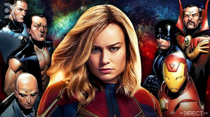 Captain Marvel with Illuminati Team