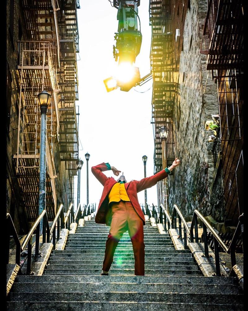 Joker Dancing on Stairs in Joker Movie
