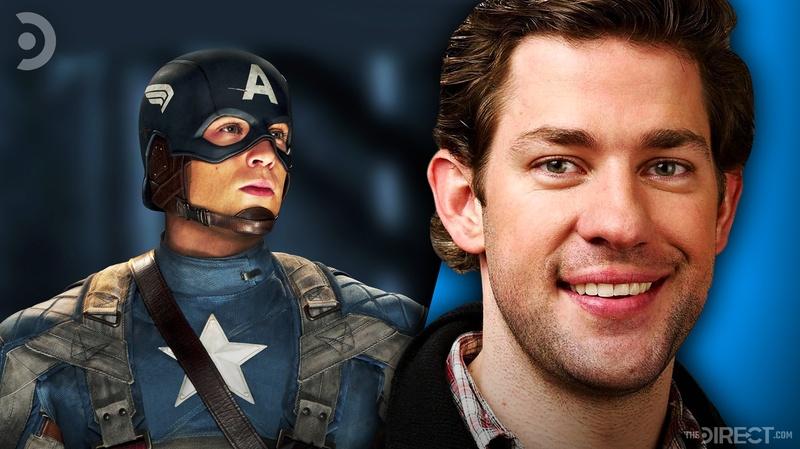 Captain America and John Krasinski