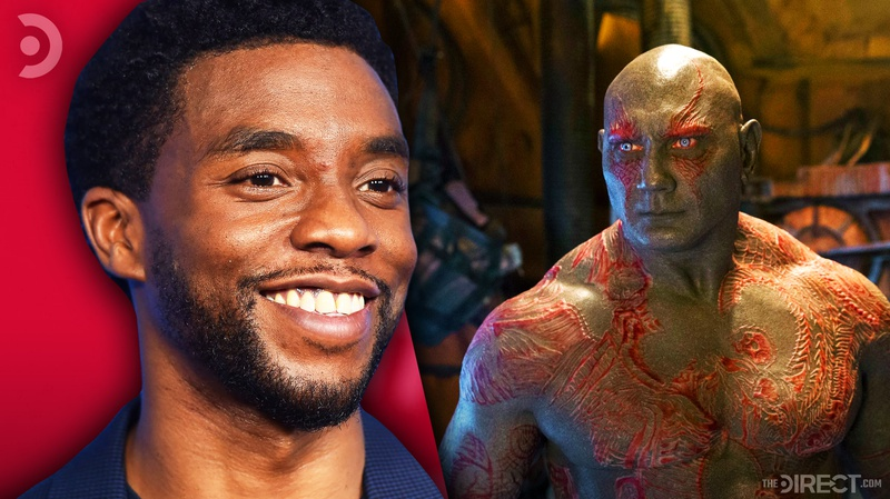 Chadwick Boseman and Drax