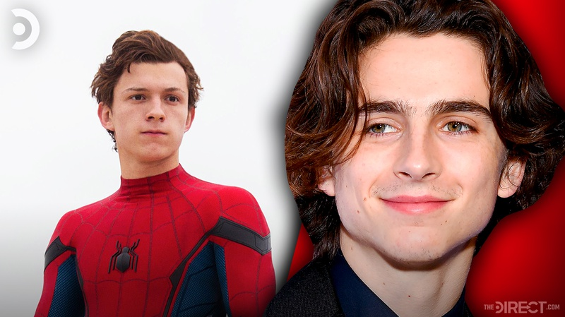 Spider-Man and Timothee Chalamet