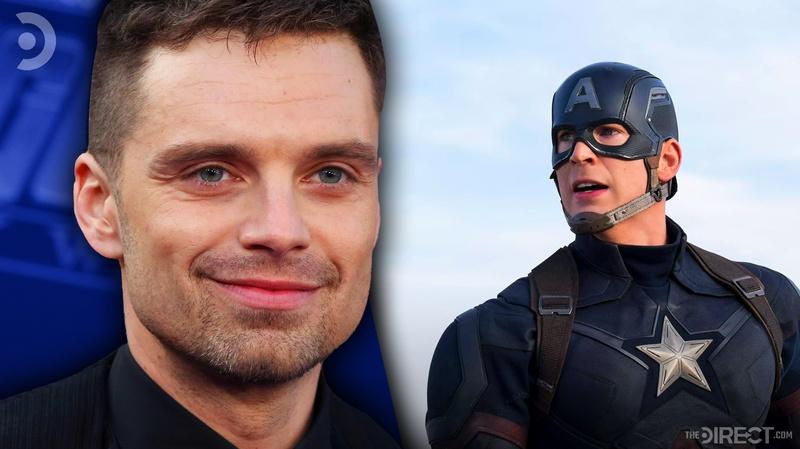 Sebastian Stan and Captain America