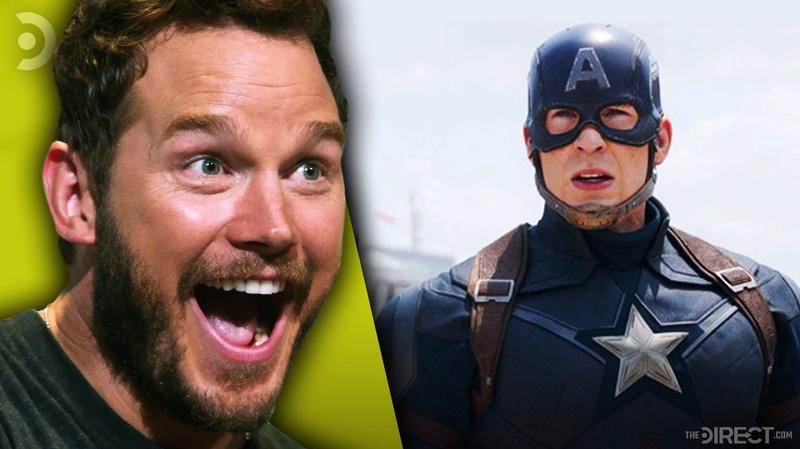 Chris Pratt and Captain America