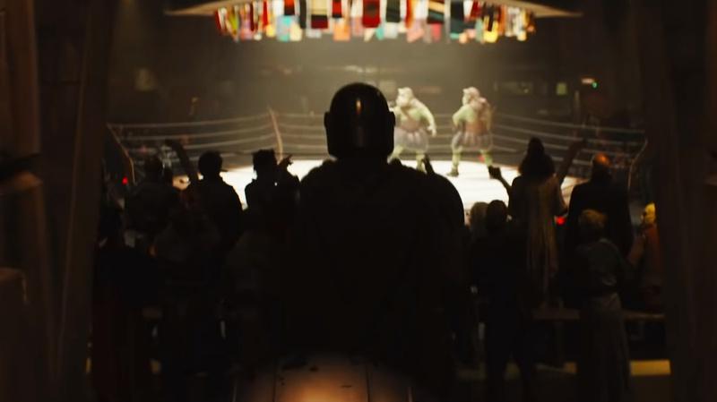 The Mandalorian at a fight club