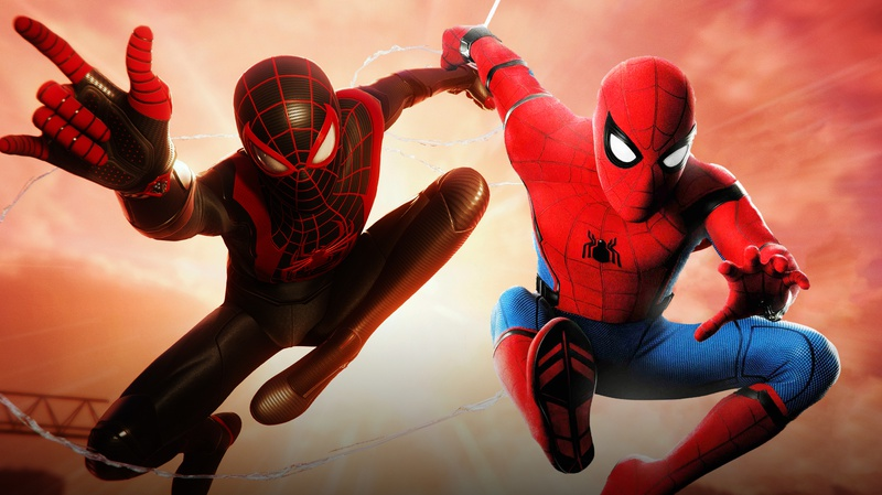 Miles Morales and Tom Holland Spider-Man swinging  About Us Contact Us Policy Feedback Copyright © 2020 The Direct Media Group LLC.