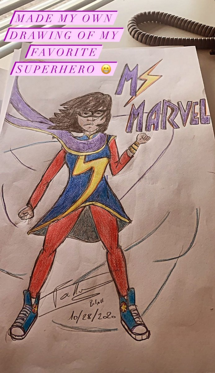 Ms. Marvel Drawing Costume