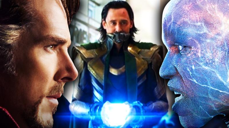 Dr. Strange, Loki with Tesseract, Electro