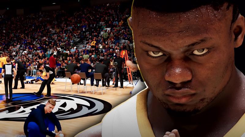 NBA 2K21 Zion Williamson, NBA 2K21 court