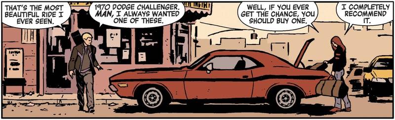 Muscle Car Hawkeye Comic Clint Barton