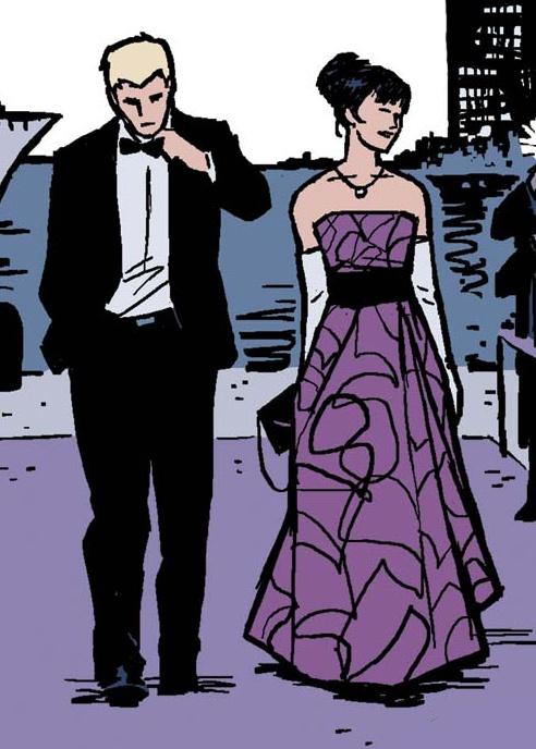 Clint Barton Kate Bishop Hawkeye Formal Wear Comic