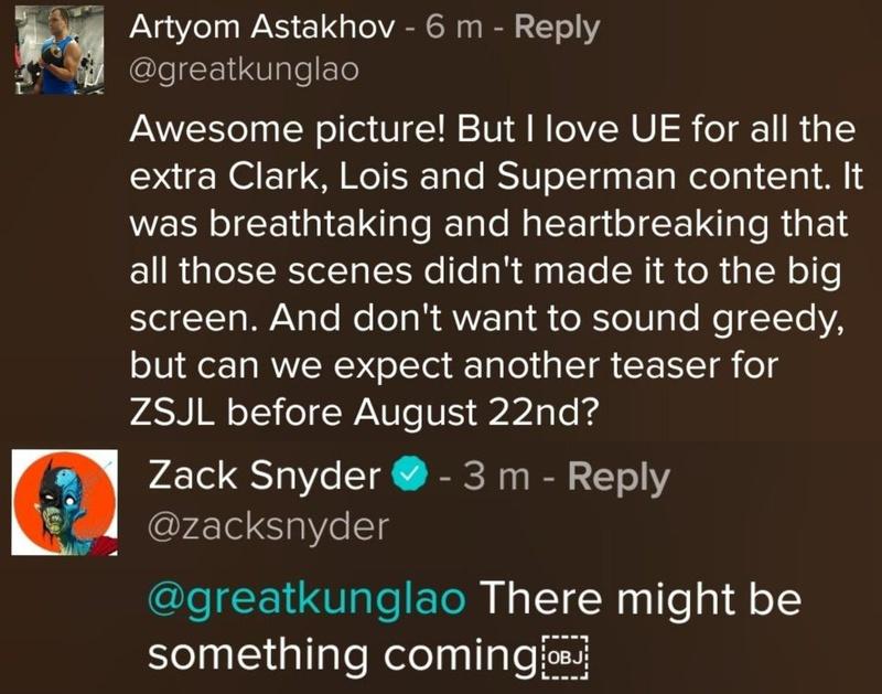 """QSXJKtfQcUpQHLH8ThqLbykE3JSgiJV12LyeuL1A1DI - Zack Snyder adelanta que el teaser de """"Liga de la Justicia"""" llegará pronto"""