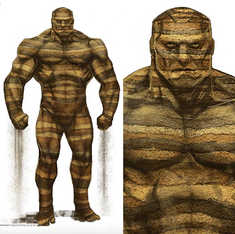 Sandman Concept art from Spider-Man: Far From Home