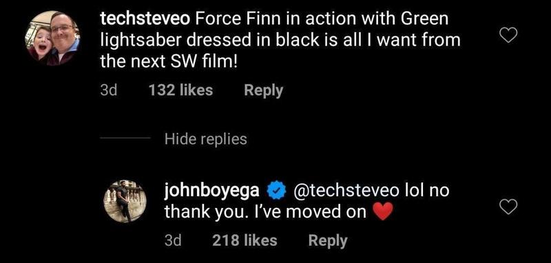 John Boyega's Star Wars comment