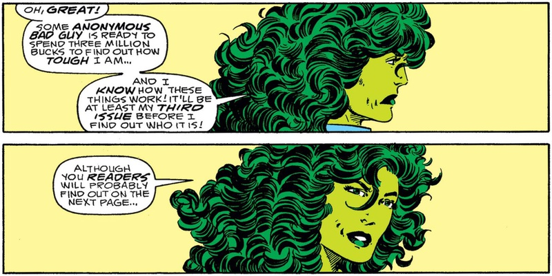 Sensational She-Hulk #1 Fourth Wall Break