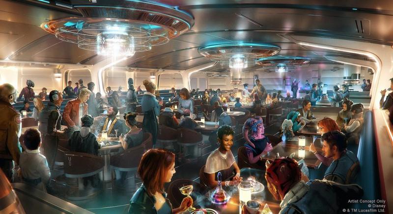 Star Wars: Galactic Starcruiser's Crown of Corellia Dining Room