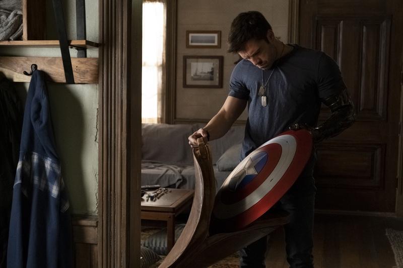 The Falcon and the Winter Soldier, Bucky Barnes, Captain America shield
