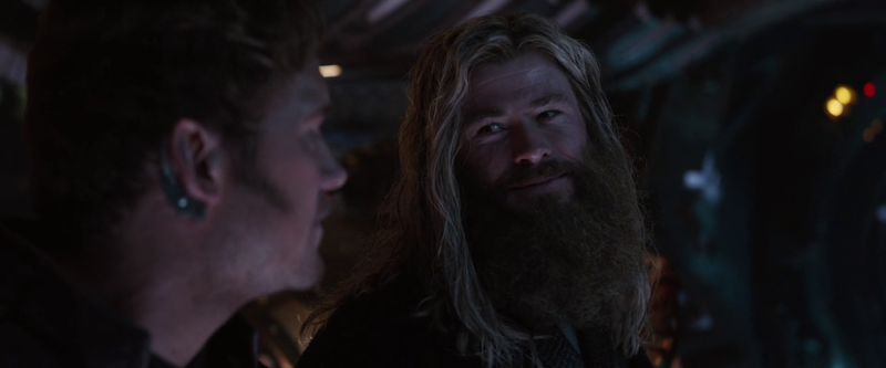 Thor and Peter Quill agreeing on who is leader