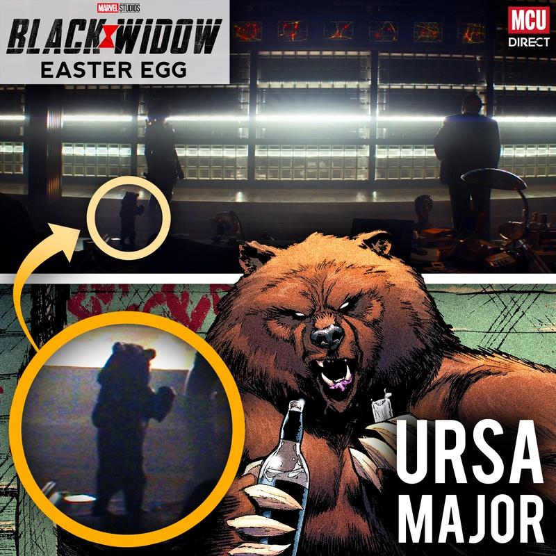 Ursa Major Black Widow Movie Easter Egg