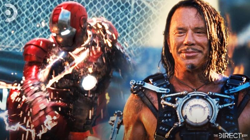 Ivan Vanko and Iron Man from Iron Man 2