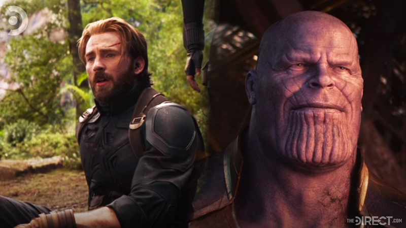 Captain America and Thanos Infinity War