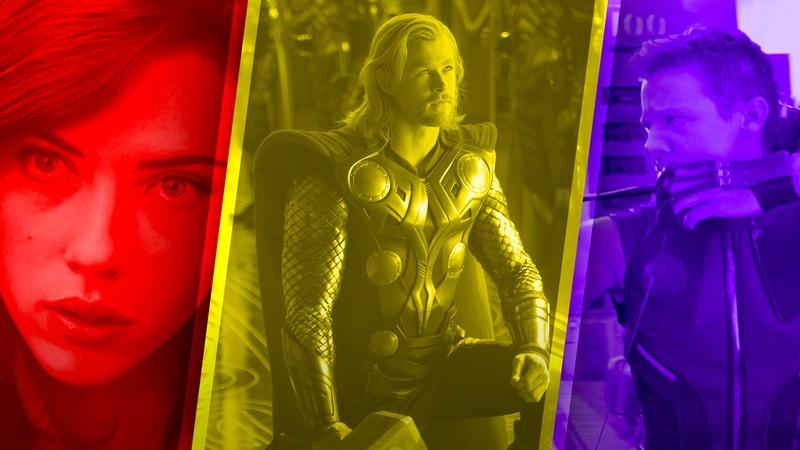 Black Widow, Thor, Hawkeye