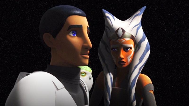 Ezra and Ahsoka in Star Wars Rebels