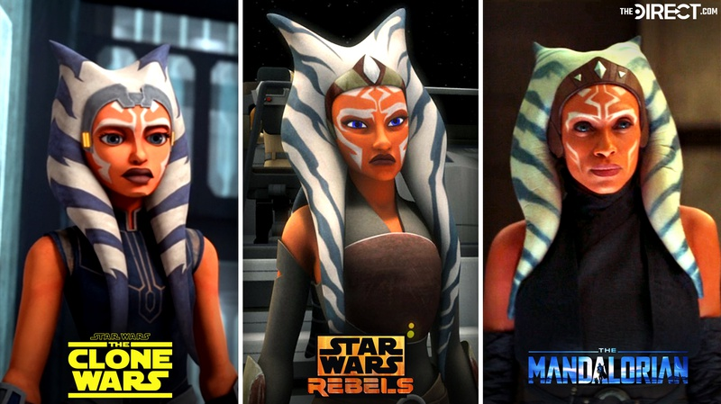 Ahsoka The Mandalorian animated comparison