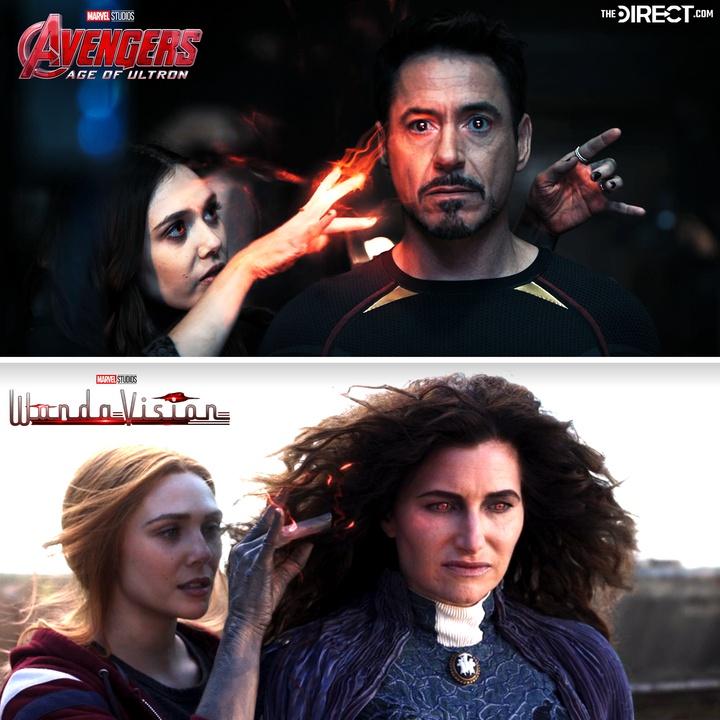 WandaVision, Avengers: Age of Ultron, Wanda, Agatha Harkness, Tony Stark