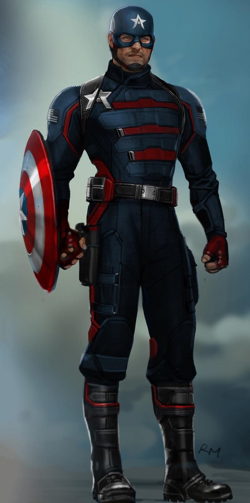 John Walker Captain America concept art