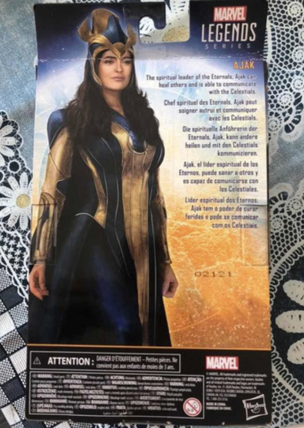 Eternals Ajak Toy Back of Box