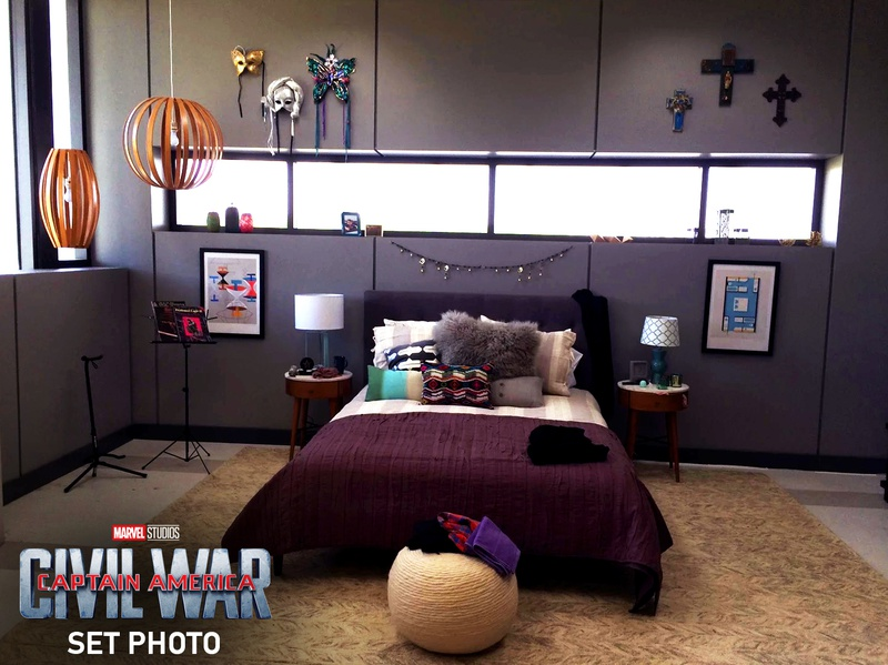 Wanda Bedroom set photo, Captain America Civil War
