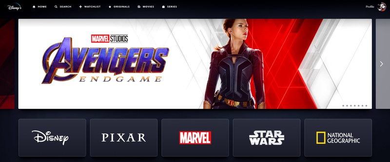 Black Widow Endgame Disney+