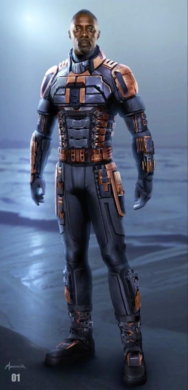Idris Elba as Bloodsport concept art