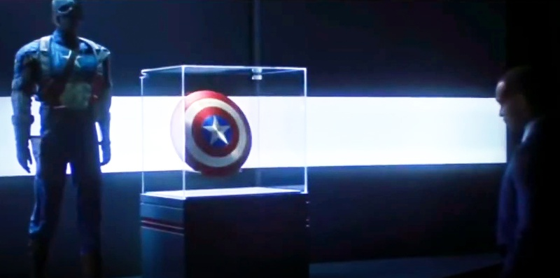 Falcon and the Captain America suit and shield
