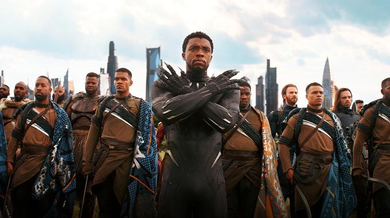 Black Panther with Wakandan Warriors