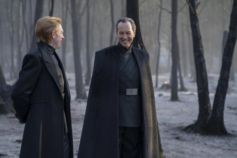 Domhnall Gleeson and Richard E. Grant on The Rise of Skywalker's Mustafar set