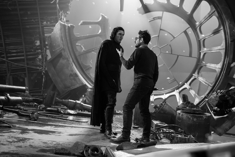 JJ Abrams and Adam Driver
