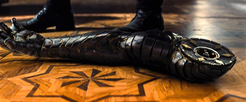 Bucky Barnes' vibranium arm