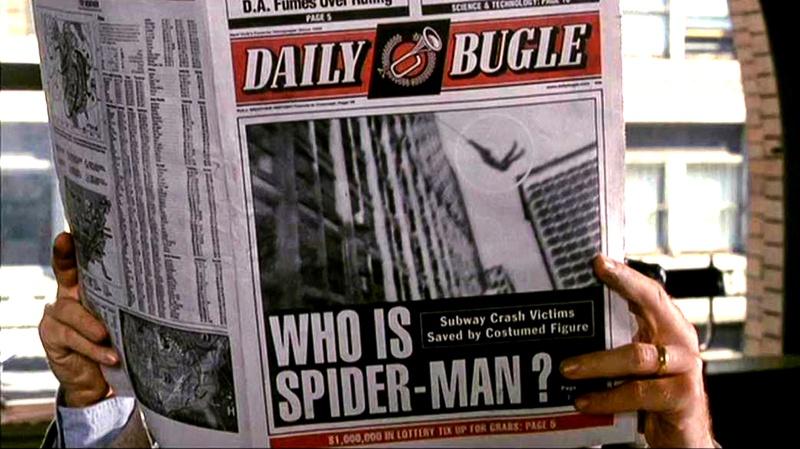 Daily Bugle Newspaper Spider-Man movie