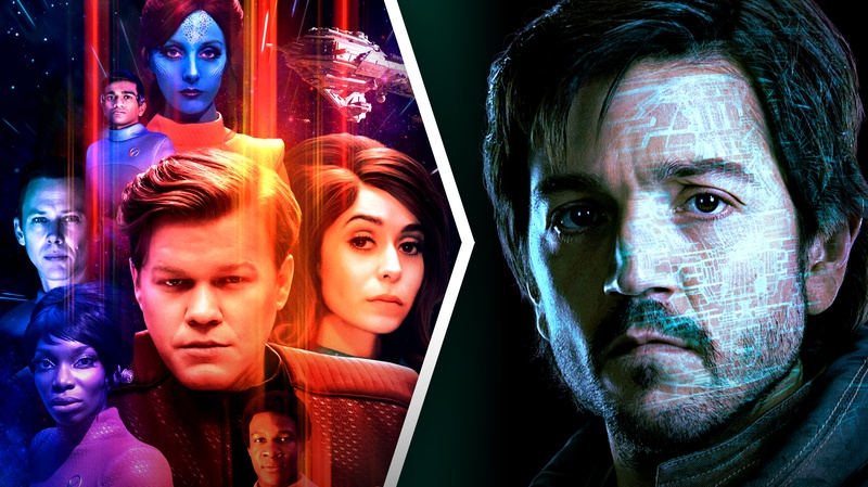 Black Mirror and Cassian Andor posters