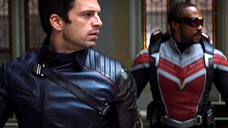 Falcon and Winter Soldier turning around